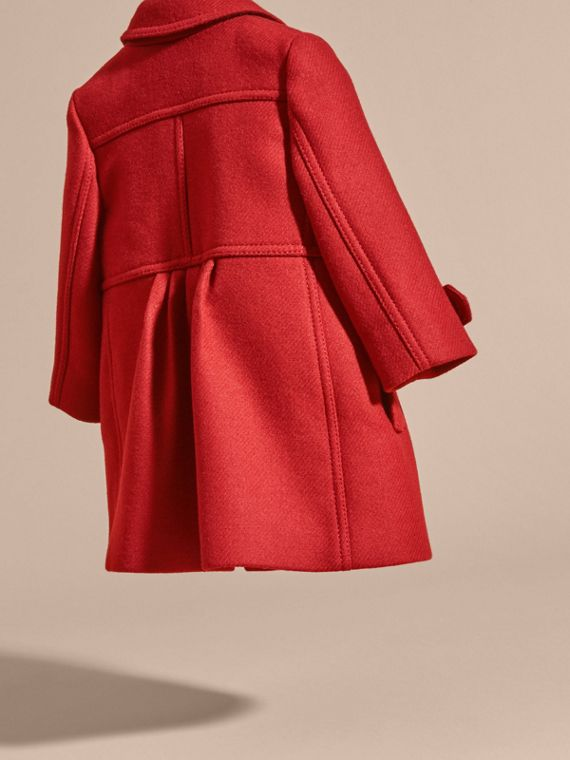 Tailored Wool Cashmere Blend Coat in Damson Red - cell image 3