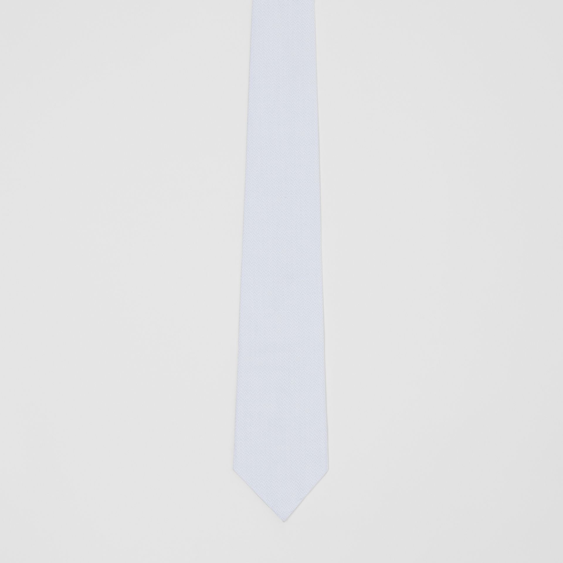 Classic Cut Geometric Print Cotton Tie in Pale Blue | Burberry Canada - gallery image 3