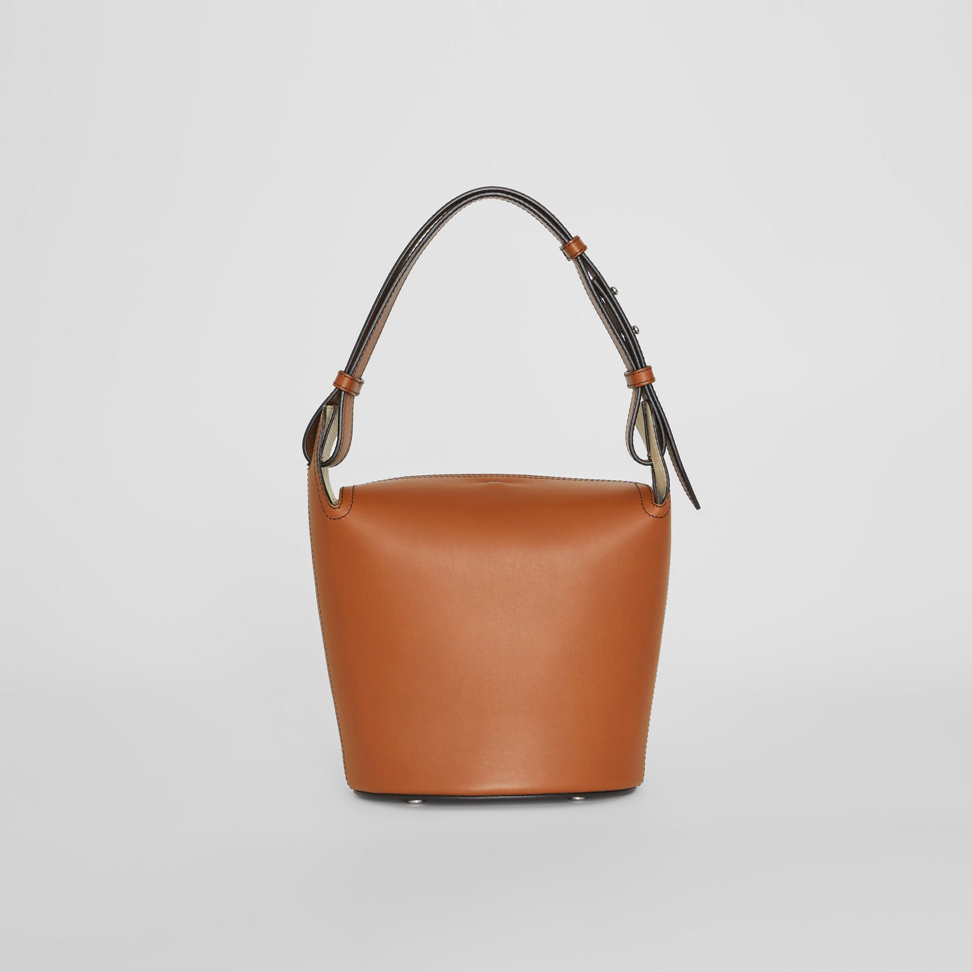 The Small Leather Bucket Bag in Tan - Women | Burberry - gallery image 7