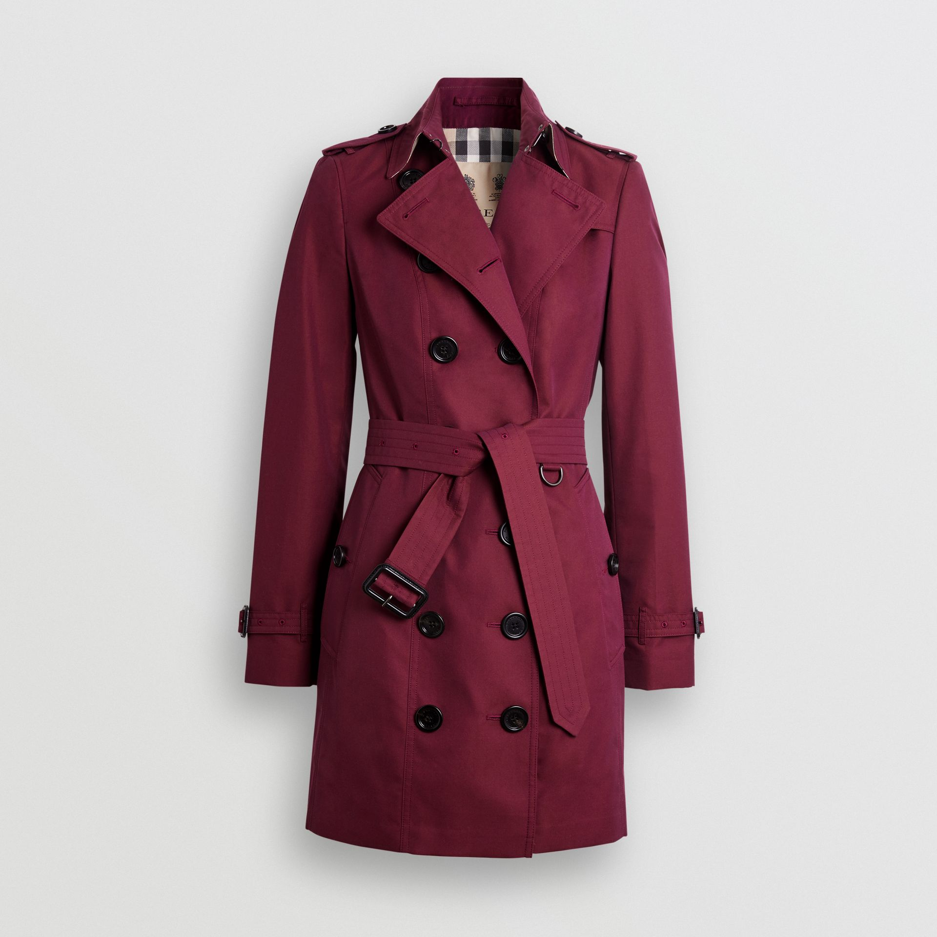 Sandringham Fit Cotton Gabardine Trench Coat in Crimson - Women | Burberry - gallery image 3