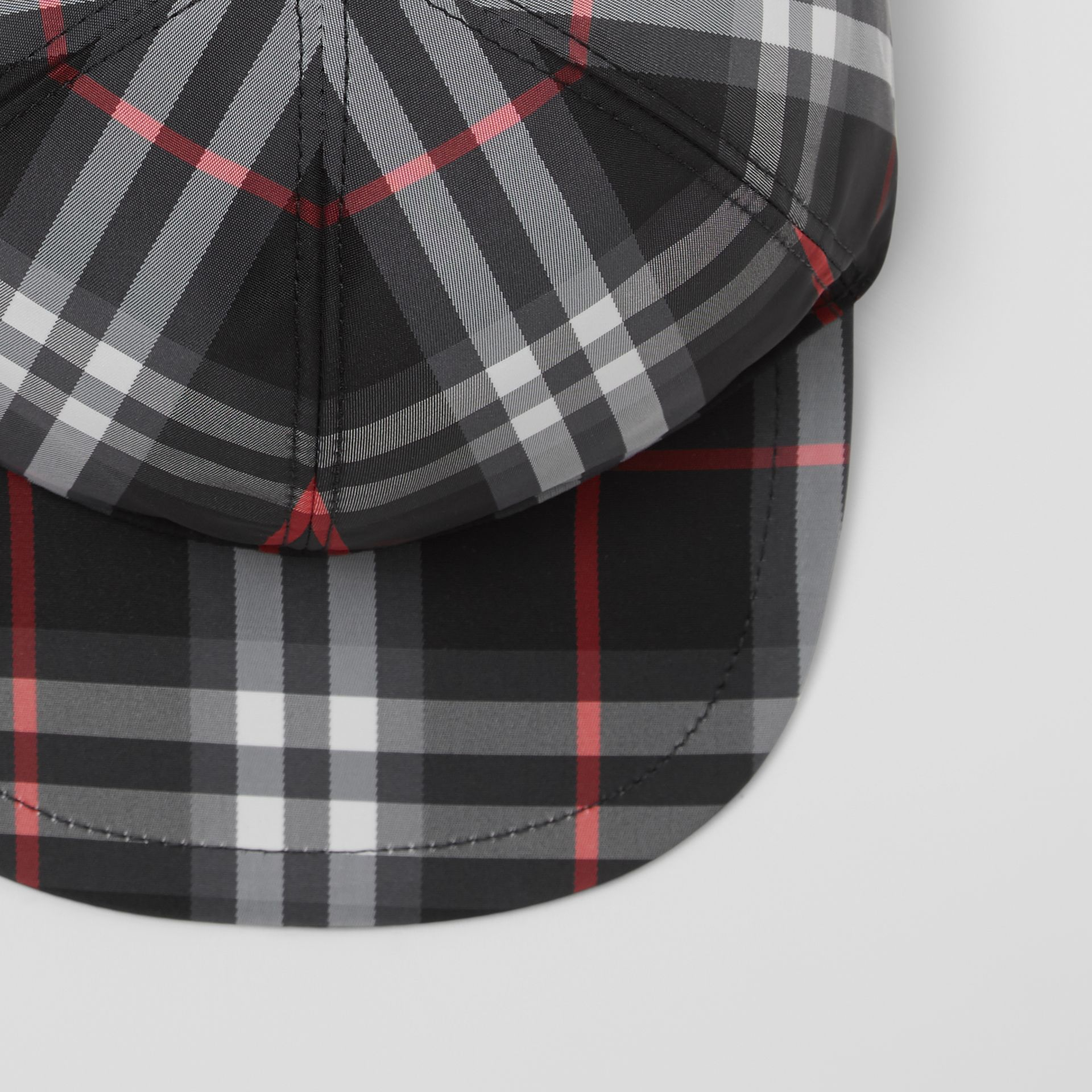 Check Baseball Cap in Black - Children | Burberry - gallery image 1