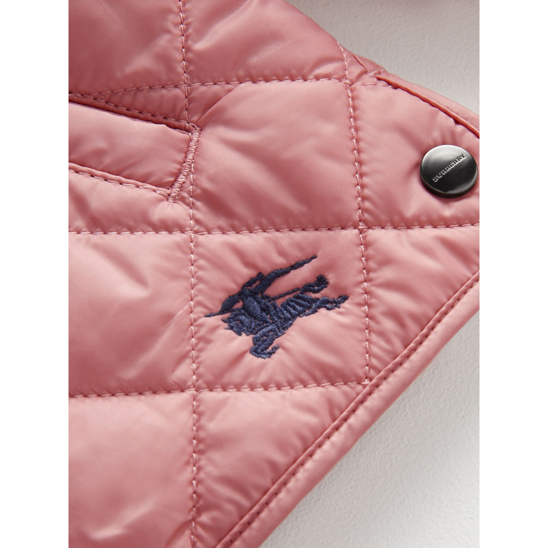 Lightweight Diamond Quilted Jacket in Pale Ash Rose | Burberry United States - gallery image 1