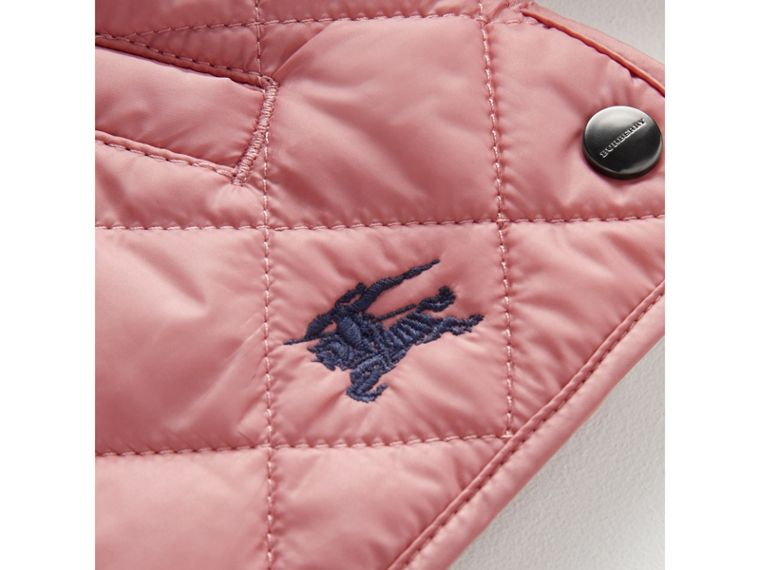 Lightweight Diamond Quilted Jacket in Pale Ash Rose | Burberry - cell image 1