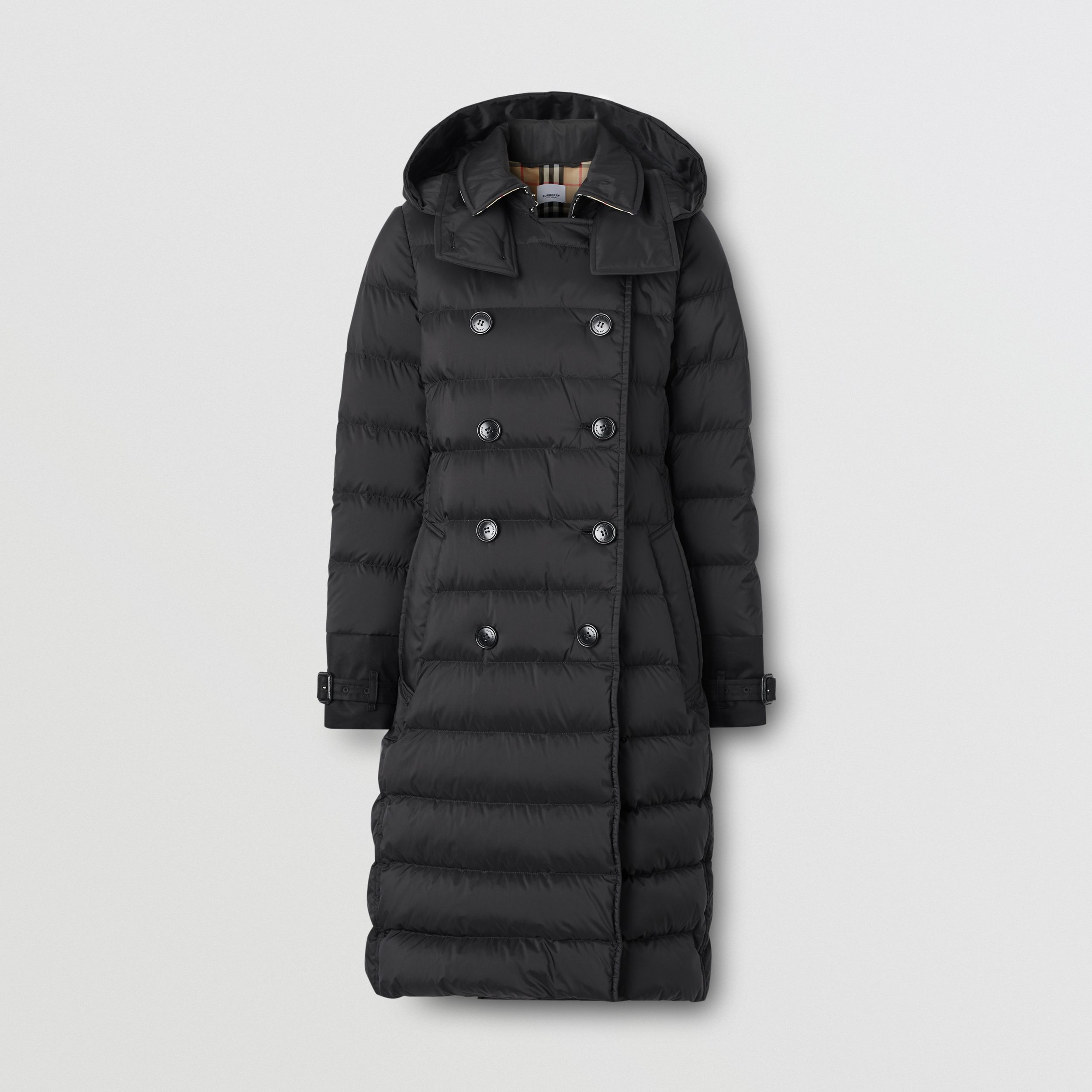 Detachable Hood Down-filled Coat in Black - Women | Burberry Canada - 4