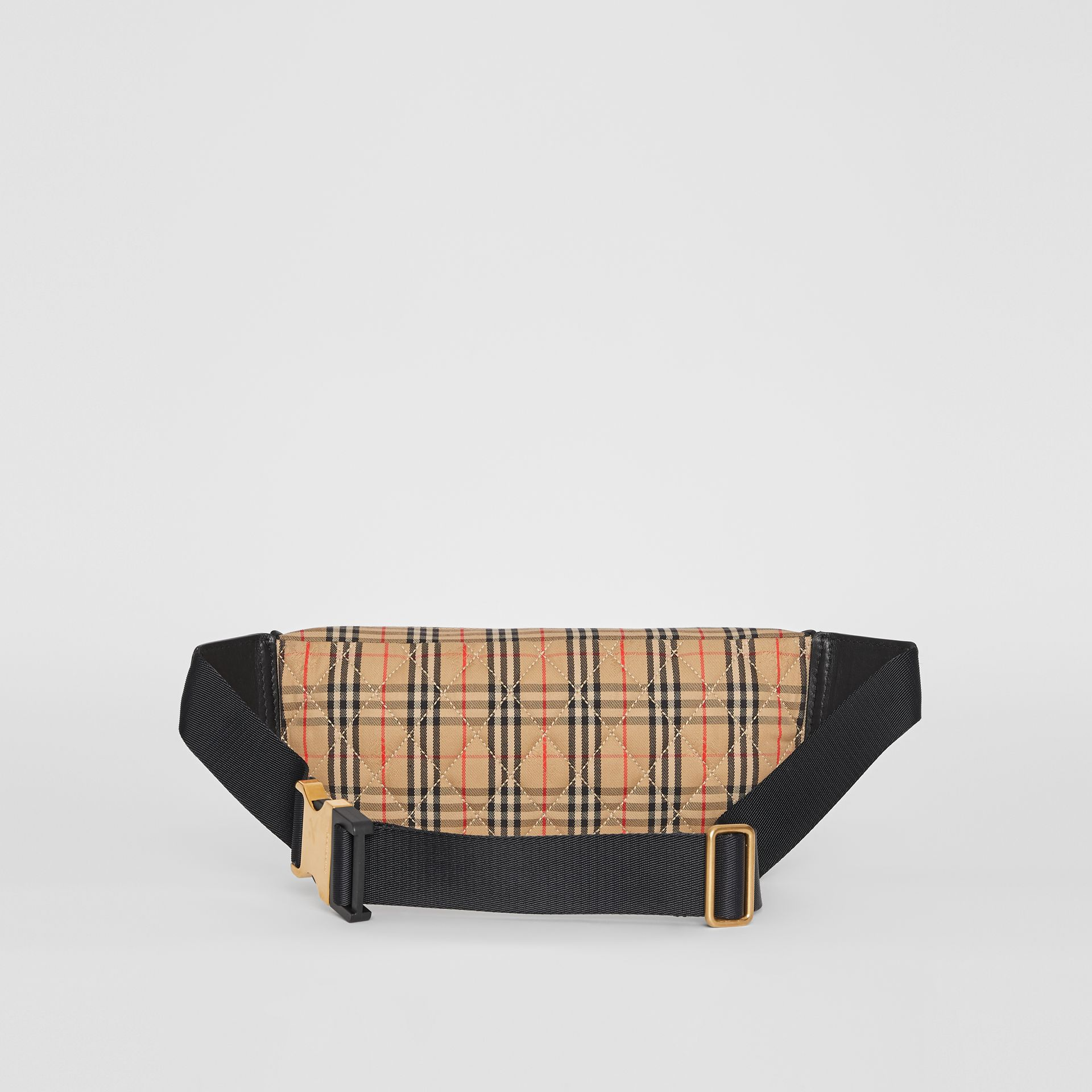The Large 1983 Check Link Bum Bag in Black - Men | Burberry - gallery image 7