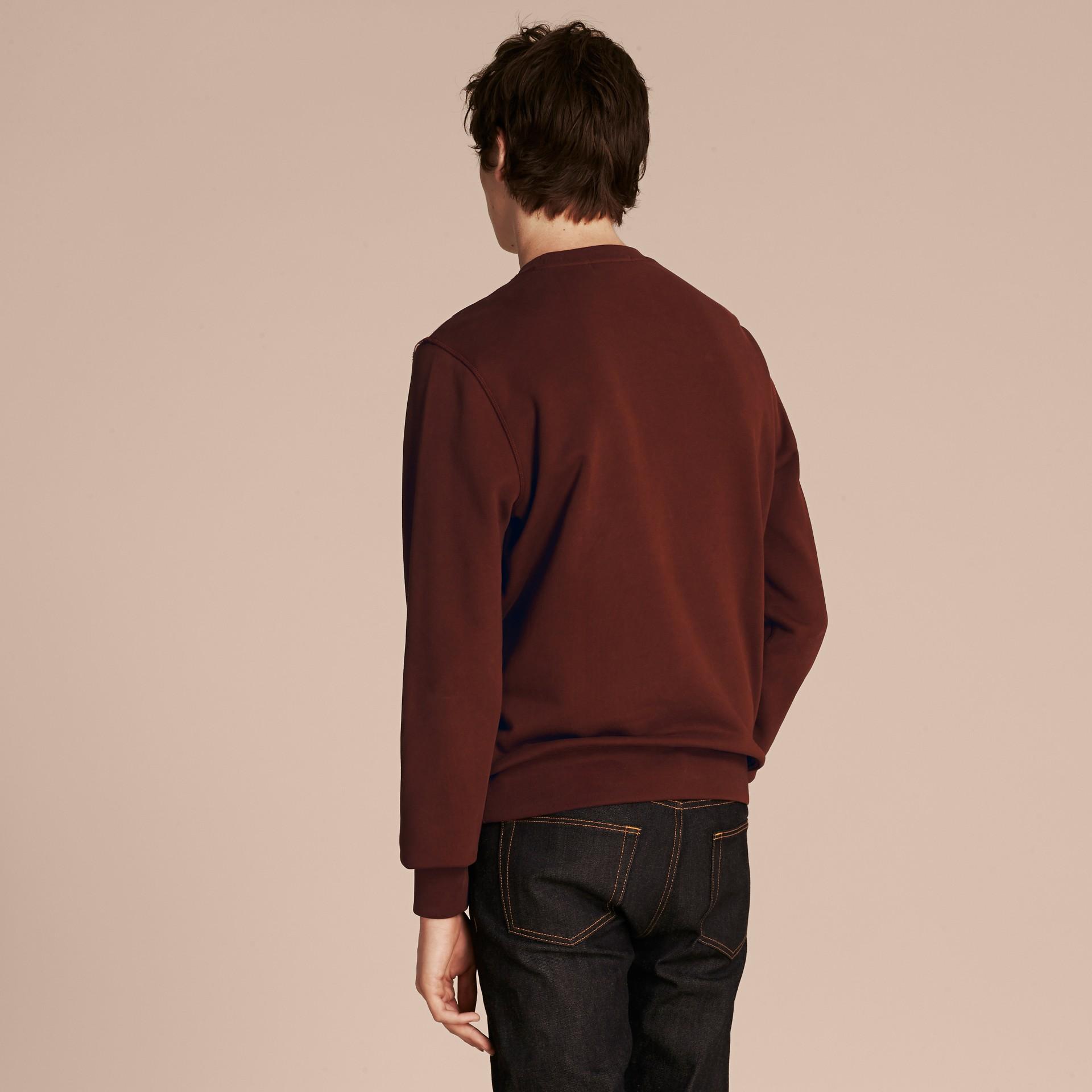 Geometric Appliqué Cotton Sweater - gallery image 3