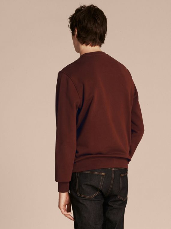 Geometric Appliqué Cotton Sweater - cell image 2