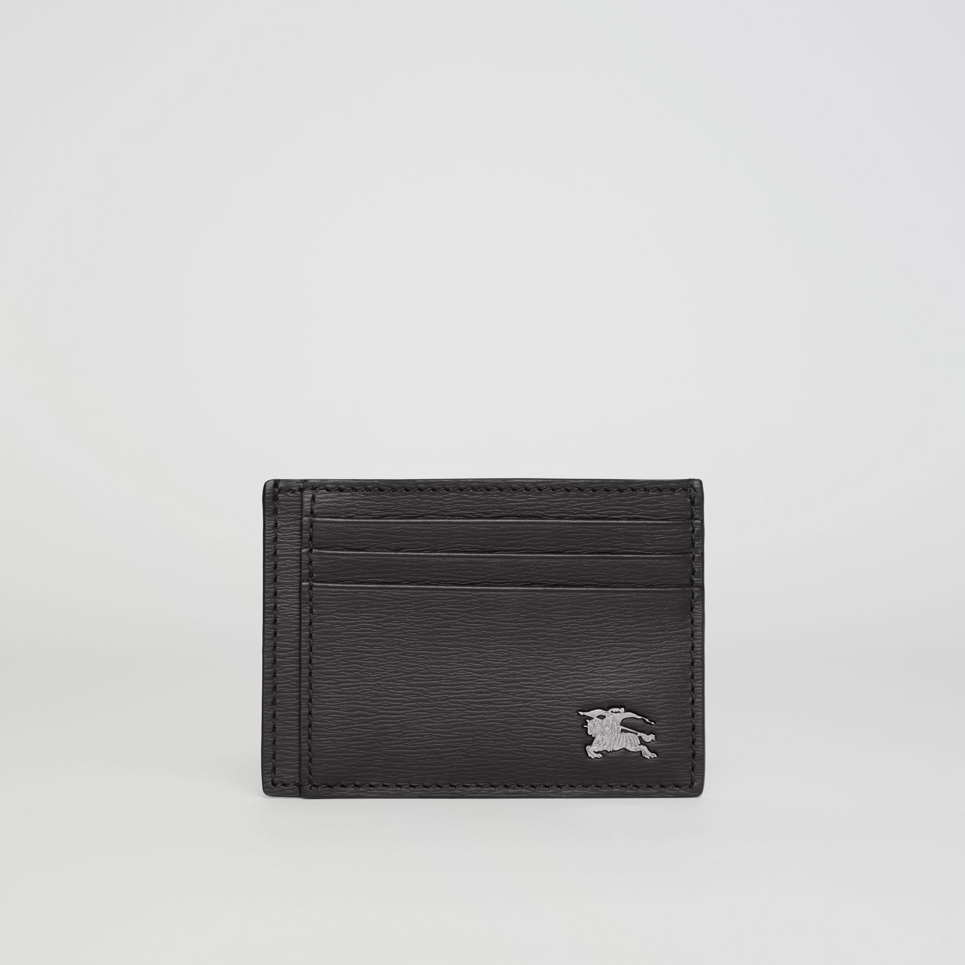 London Leather Card Case in Black - Men | Burberry Australia - gallery image 5