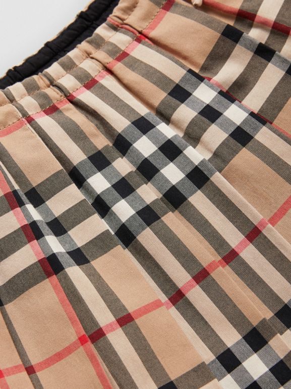 Vintage Check Pleated Skirt in Archive Beige - Children | Burberry Australia - cell image 1