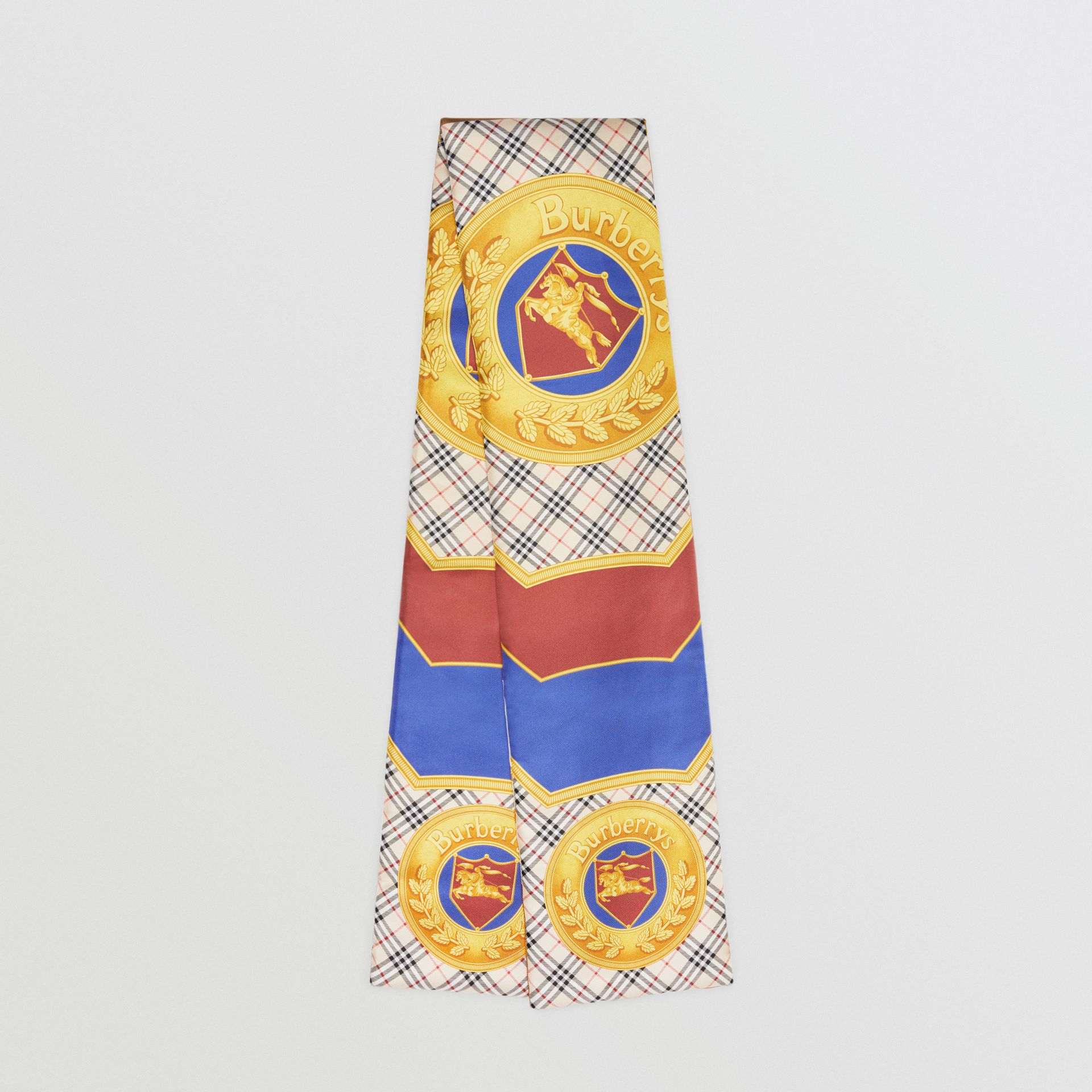 Archive Scarf Print Padded Silk Scarf in Antique Yellow | Burberry - gallery image 0