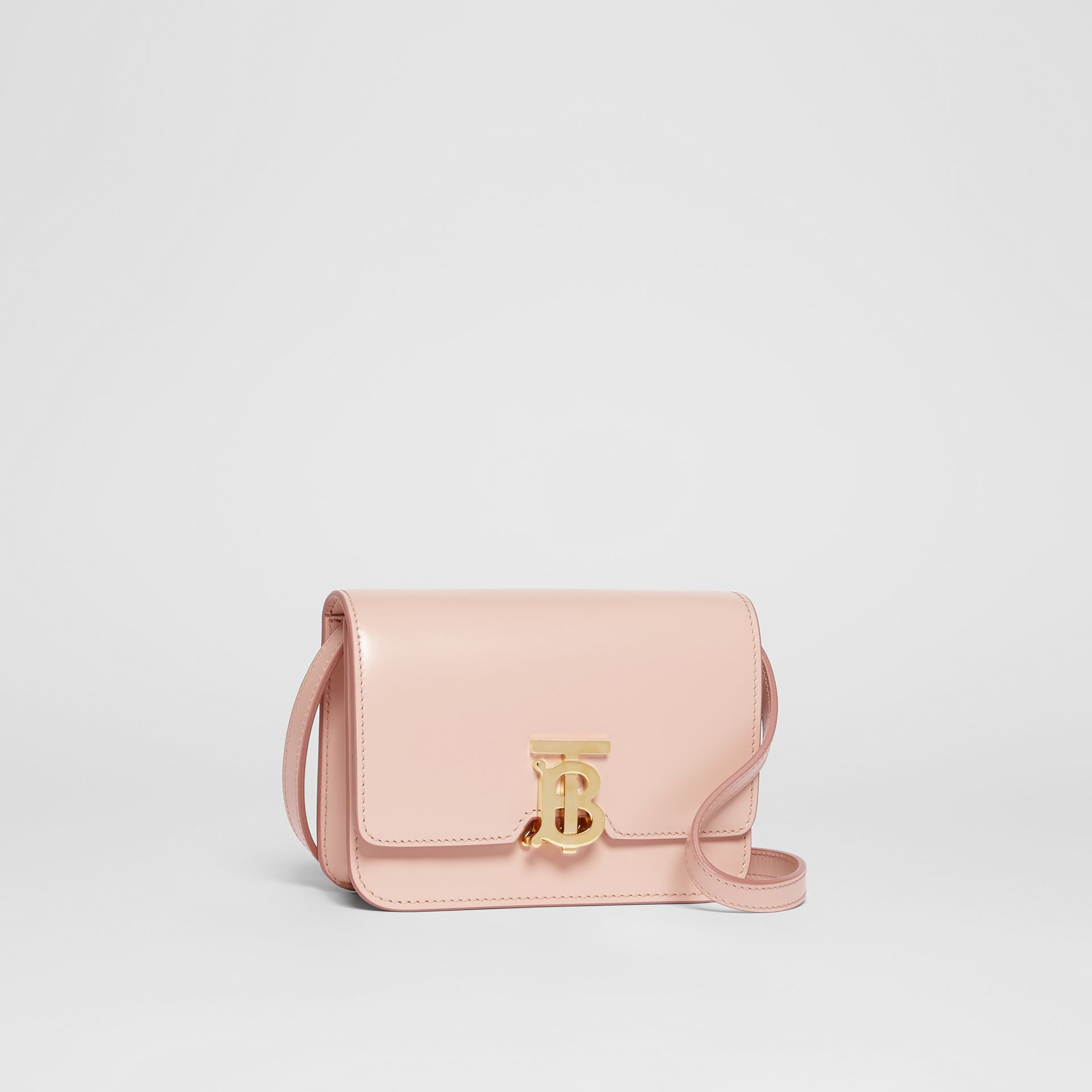 Mini Leather TB Bag in Rose Beige - Women | Burberry - gallery image 6