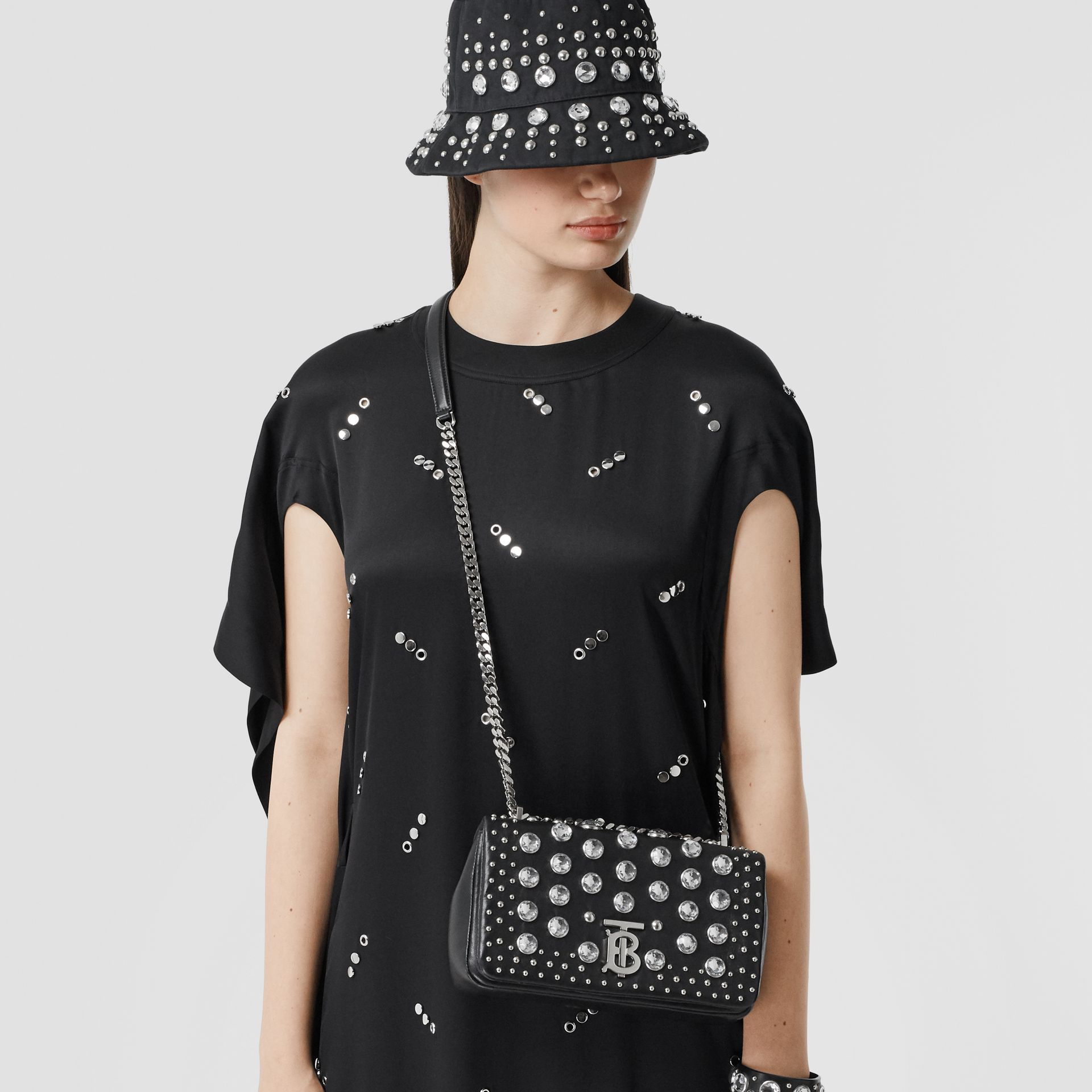 Small Embellished Lambskin Lola Bag in Black - Women | Burberry - gallery image 9