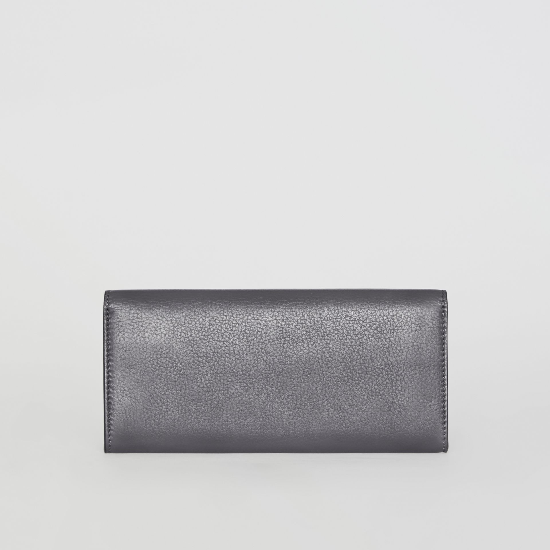 Leather Continental Wallet in Charcoal Grey - Women | Burberry - gallery image 6