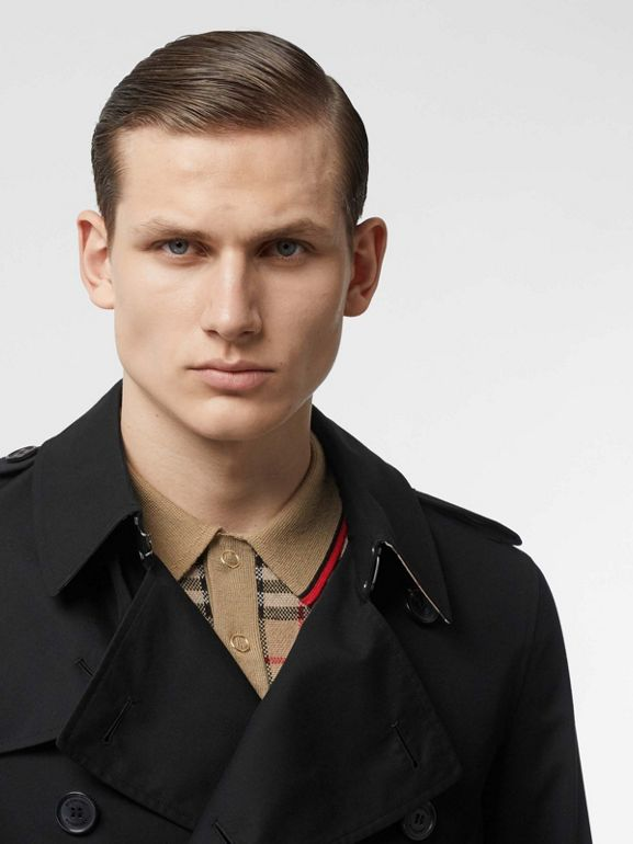 Cotton Gabardine Trench Coat in Black - Men | Burberry - cell image 1