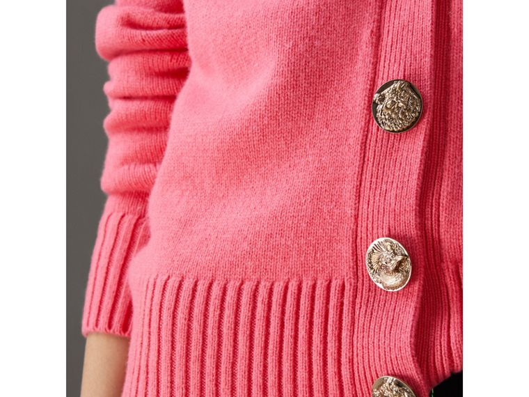 Bird Button Cashmere Cardigan in Rose Pink - Women | Burberry Canada - cell image 1