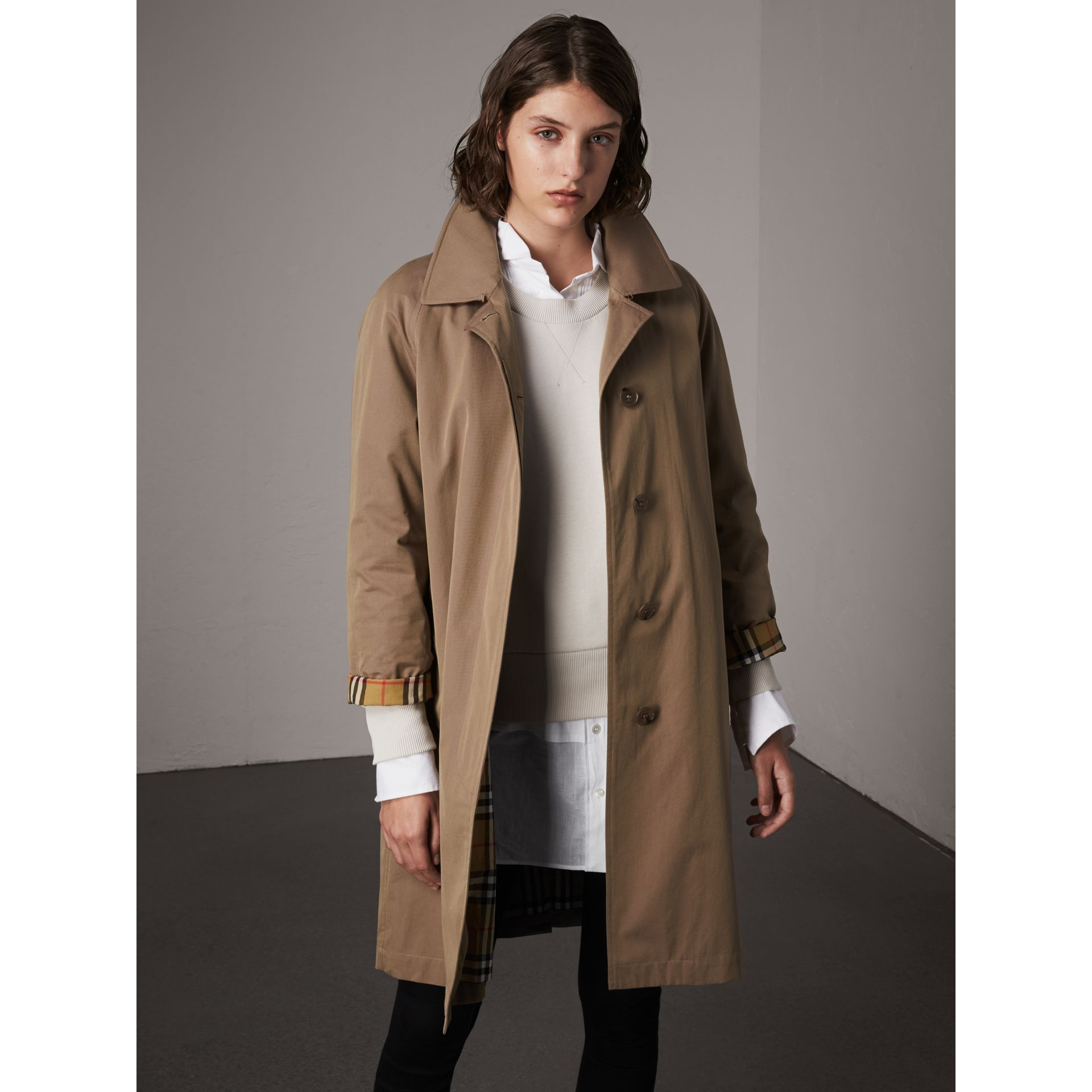 The Camden Car Coat in Taupe Brown - Women | Burberry - gallery image 5