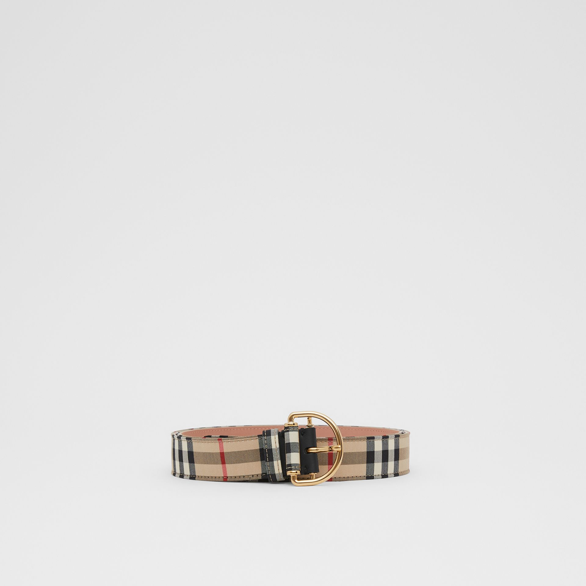 Vintage Check Cotton Blend D-ring Belt in Archive Beige - Women | Burberry - gallery image 2