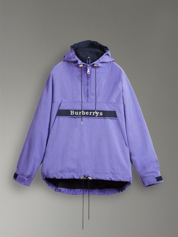 Reissued Hooded Anorak in Purple - Men | Burberry United States - cell image 3