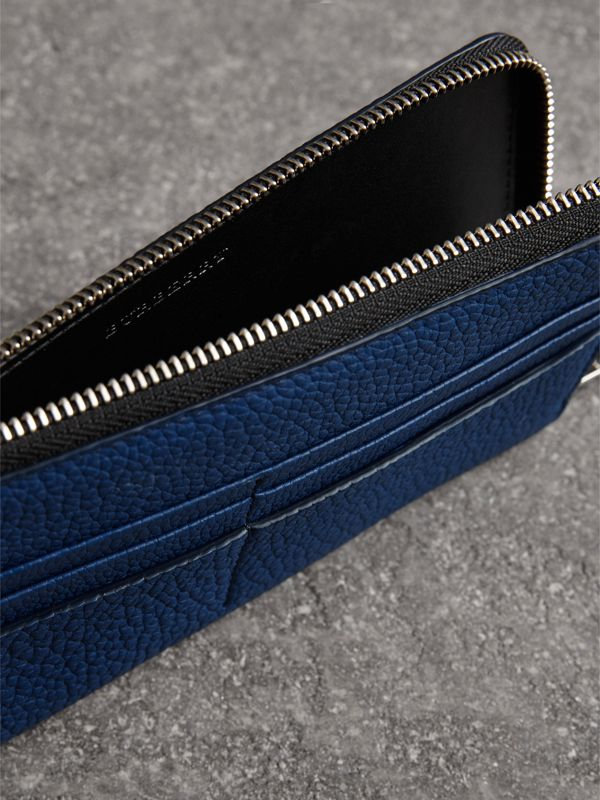 Grainy Leather Travel Wallet in Bright Ultramarine - Men | Burberry - cell image 3