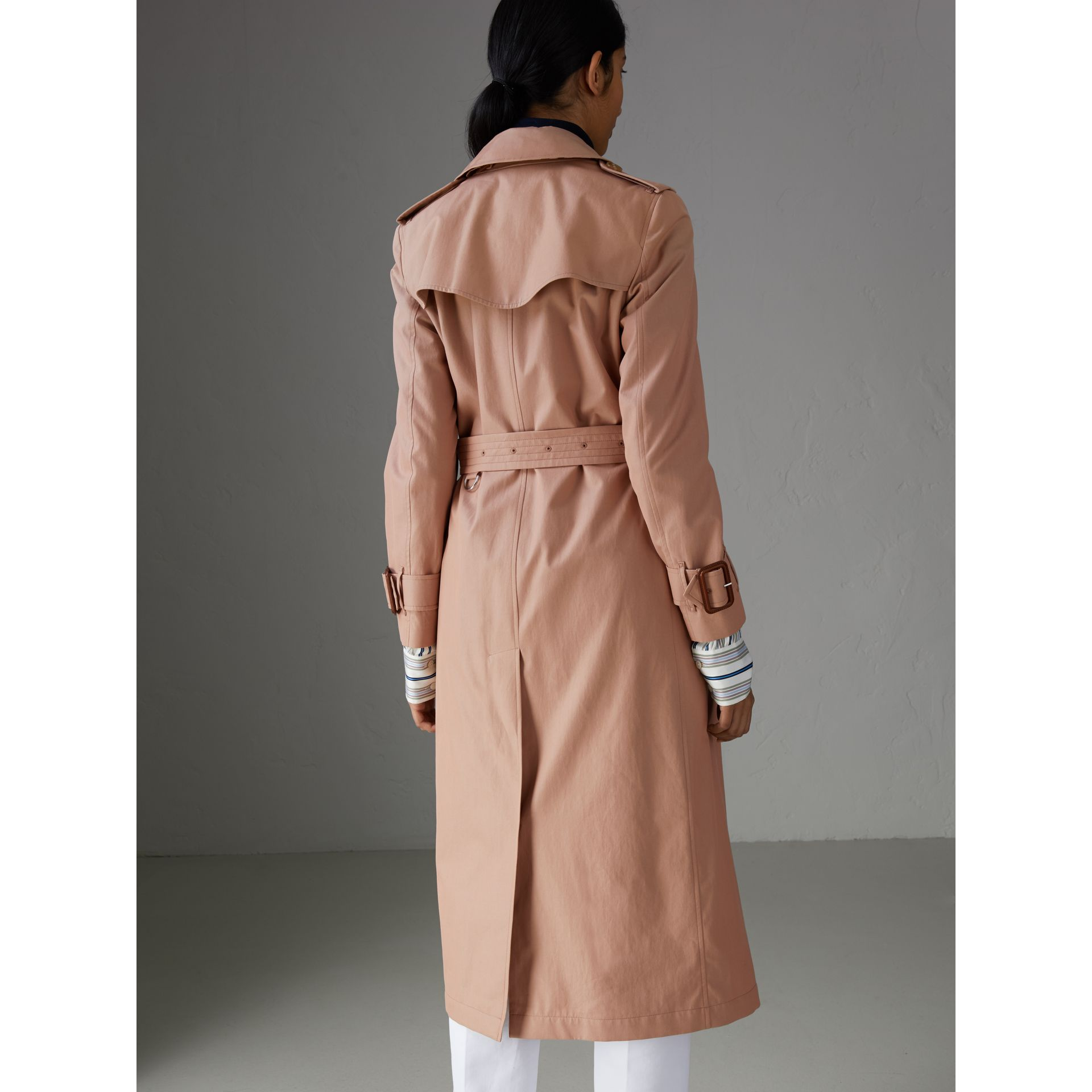 Tropical Gabardine Trench Coat in Pink Apricot - Women | Burberry Australia - gallery image 2