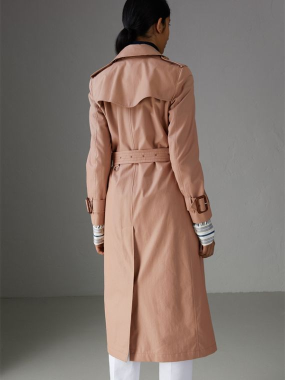 Tropical Gabardine Trench Coat in Pink Apricot - Women | Burberry Singapore - cell image 2