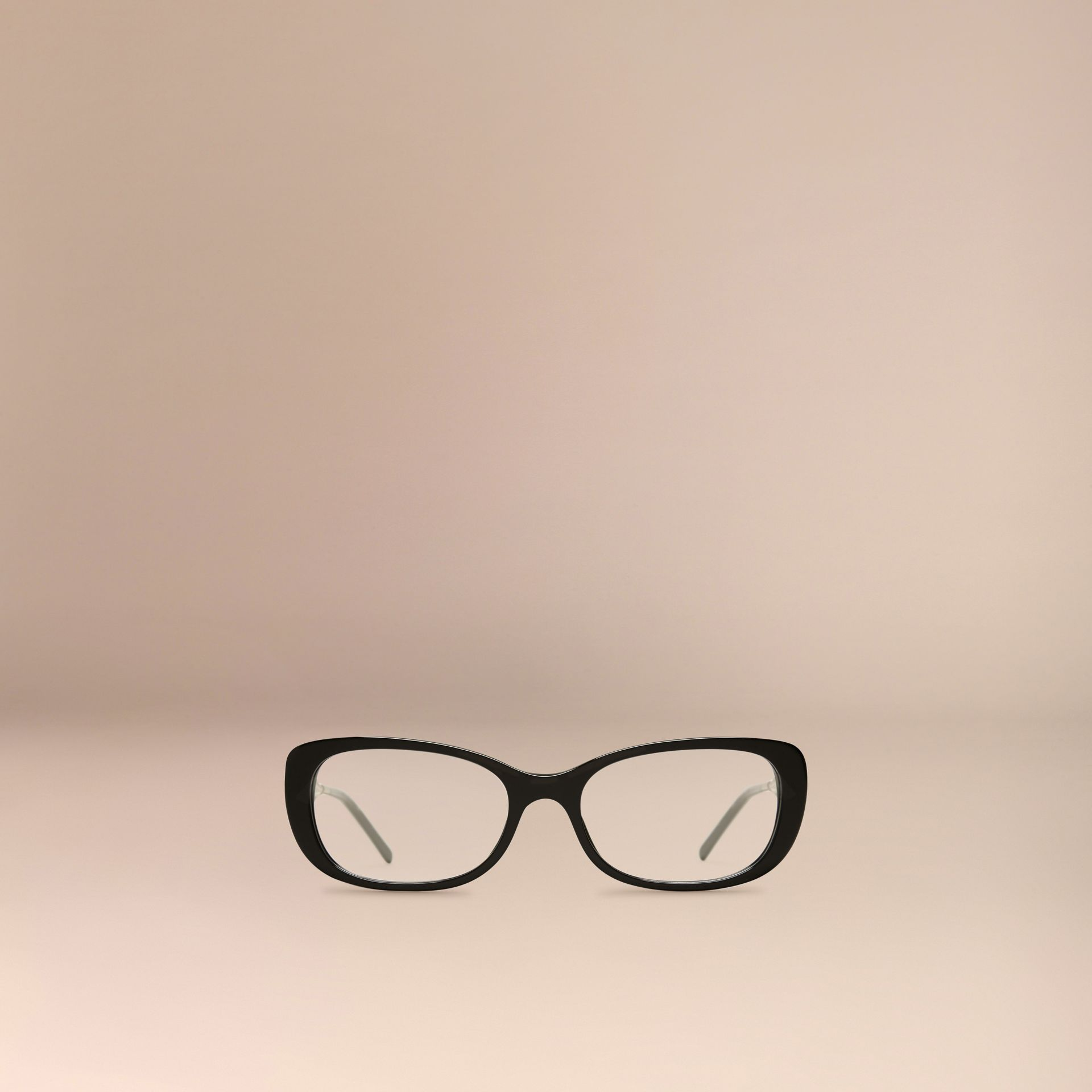 Black Gabardine Collection Oval Optical Frames Black - gallery image 2