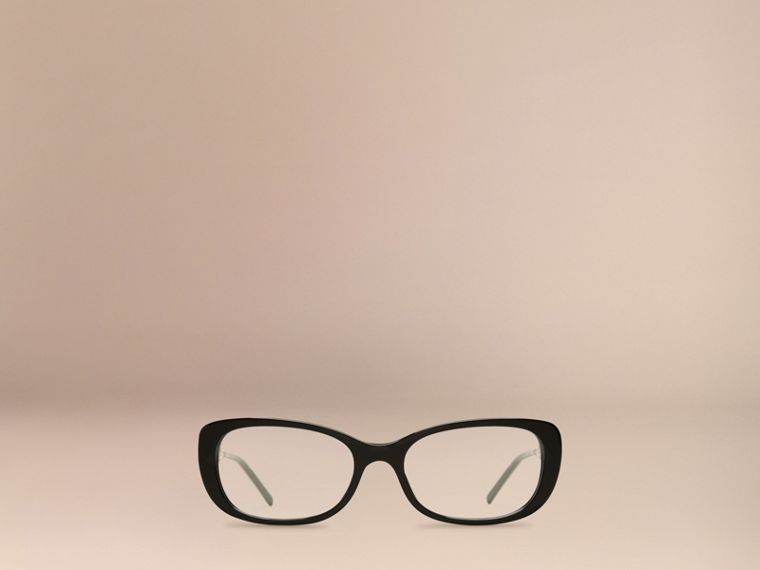Black Gabardine Collection Oval Optical Frames Black - cell image 1