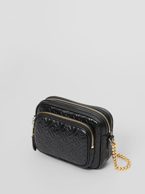 Monogram Leather Camera Bag in Black - Women | Burberry United Kingdom - cell image 2