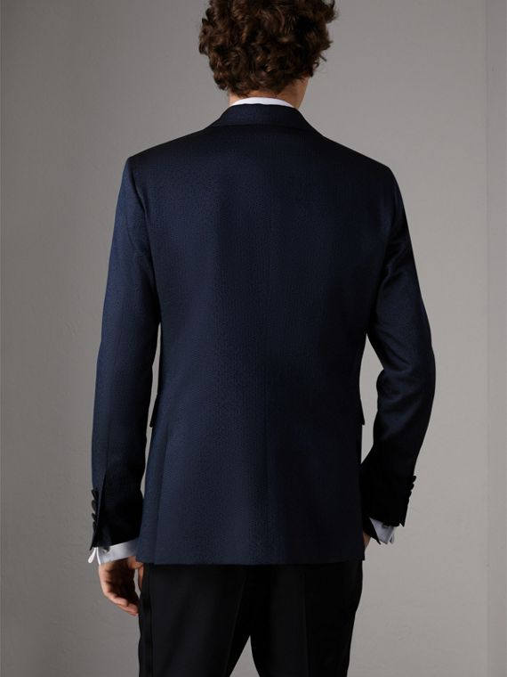 Soho Fit Jacquard Evening Jacket in Navy - Men | Burberry - cell image 2