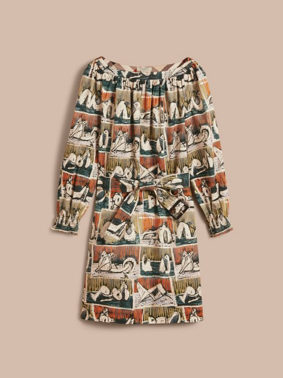 Reclining Figures Print Cotton Tunic Dress - cell image 3