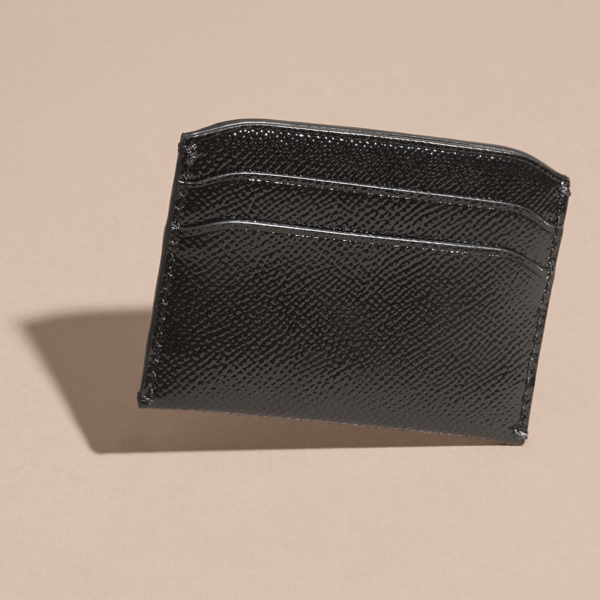 Black Check and Leather Card Case - gallery image 4