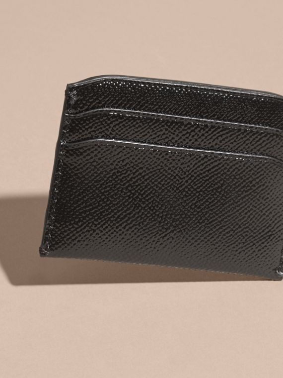 Black Check and Leather Card Case - cell image 3
