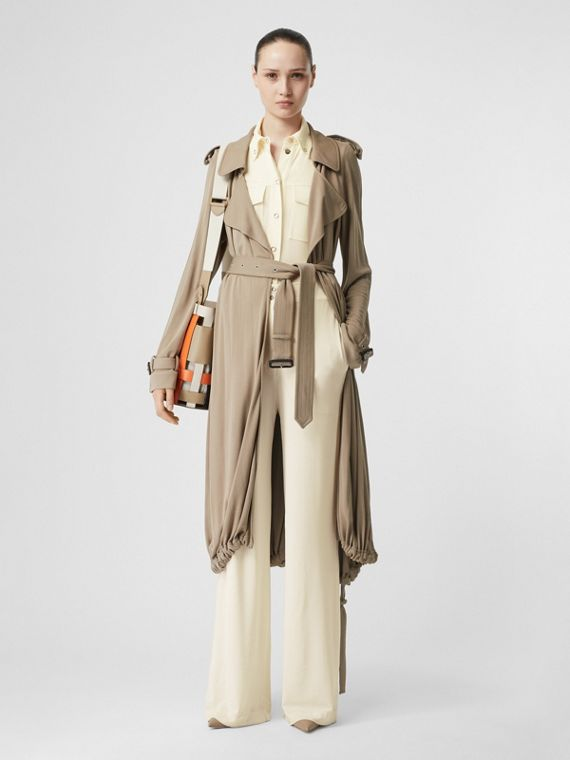 Jersey Wide-leg Trousers in Off White
