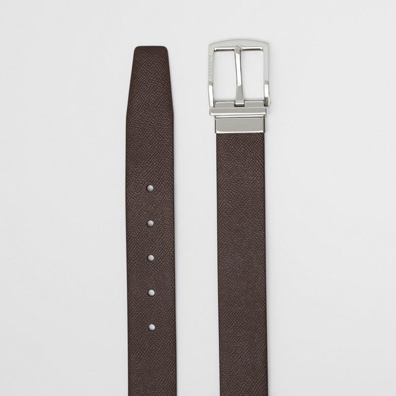 Burberry - Cinturón reversible en piel granulada - 7