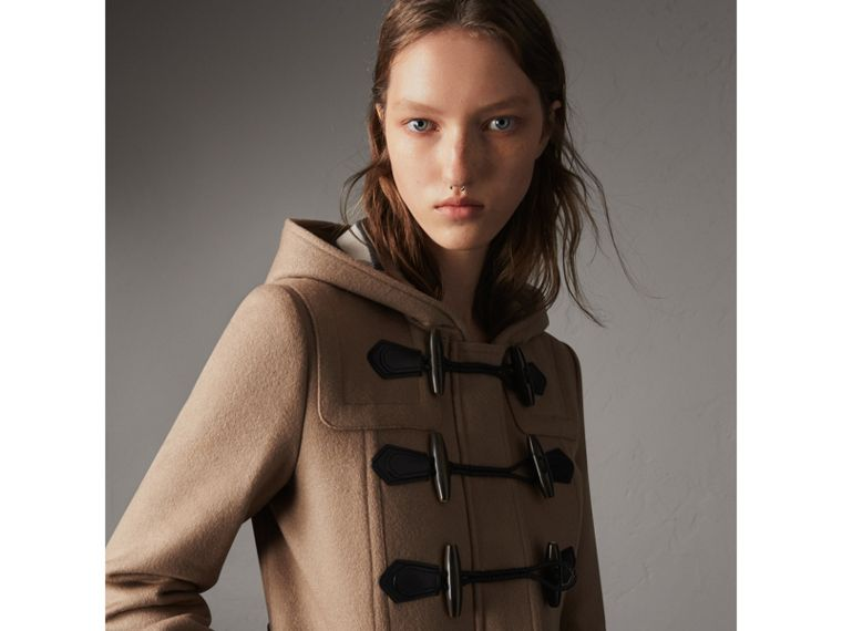 Fitted Wool Duffle Coat in New Camel - Women | Burberry Australia - cell image 4