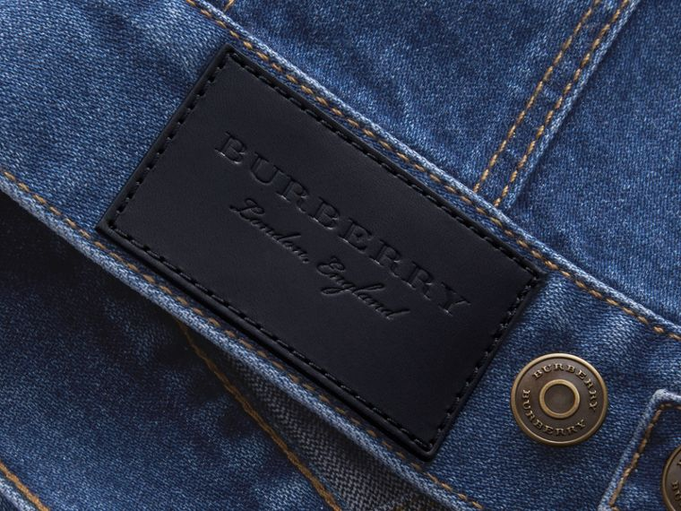 Zip-front Cropped Denim Jacket - Men | Burberry - cell image 1