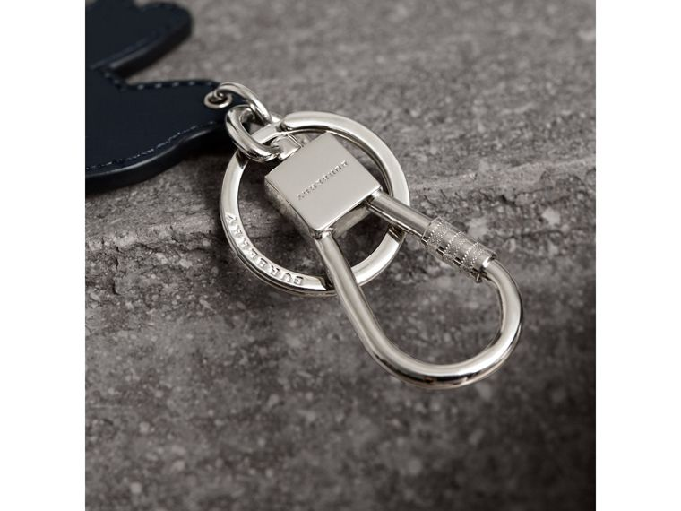 Beasts Leather Key Ring in Tan | Burberry - cell image 1