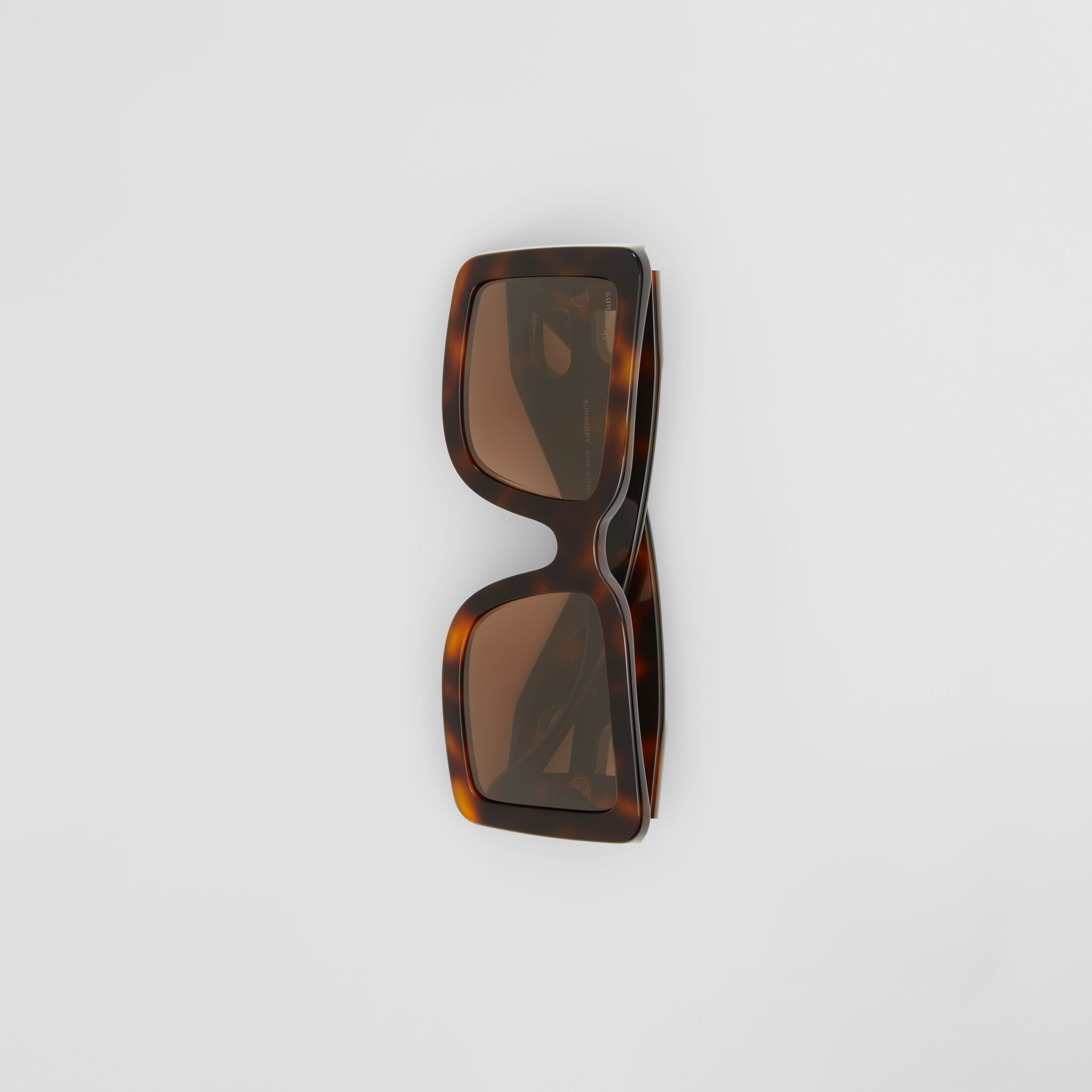 B Motif Square Frame Sunglasses in Tortoise Amber - Women | Burberry Hong Kong S.A.R. - 4