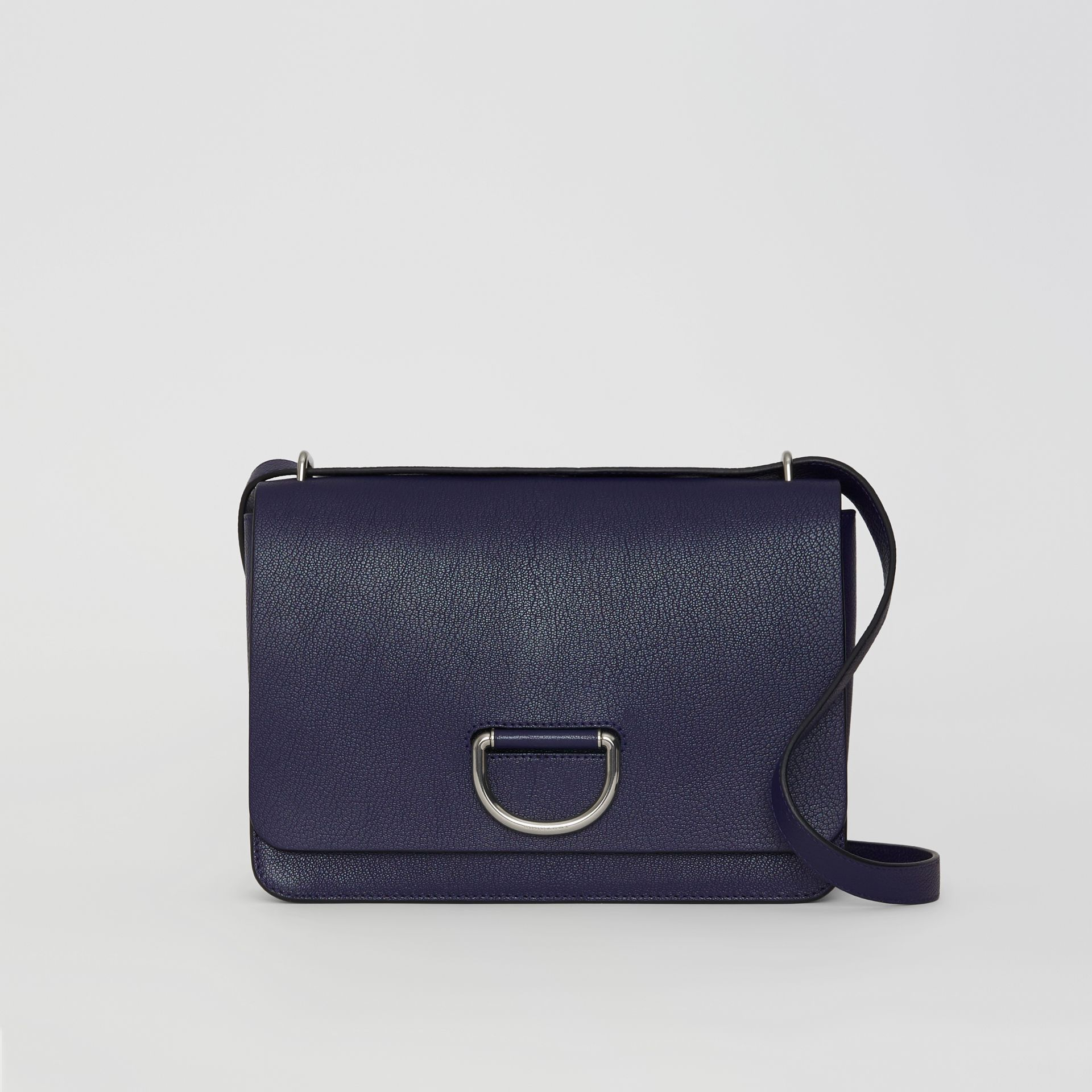 The Medium Leather D-ring Bag in Regency Blue - Women | Burberry Singapore - gallery image 0