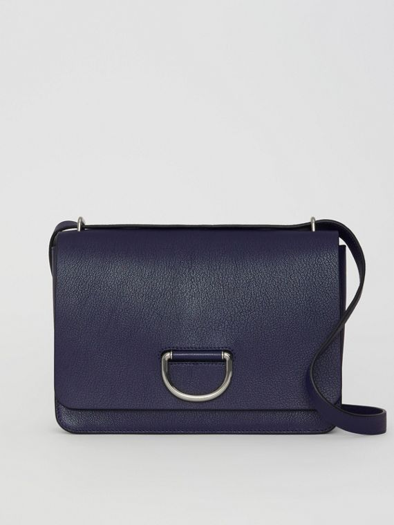 Sac The D-ring moyen en cuir (Bleu Régence)
