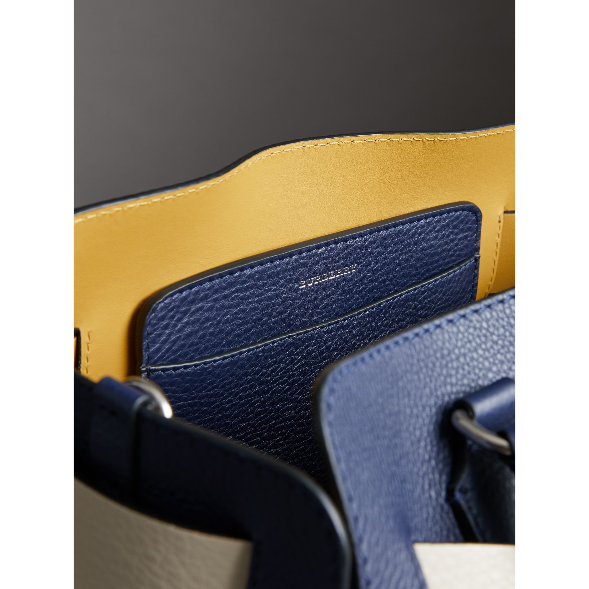 The Small Leather Belt Bag in Regency Blue - Women | Burberry - gallery image 5