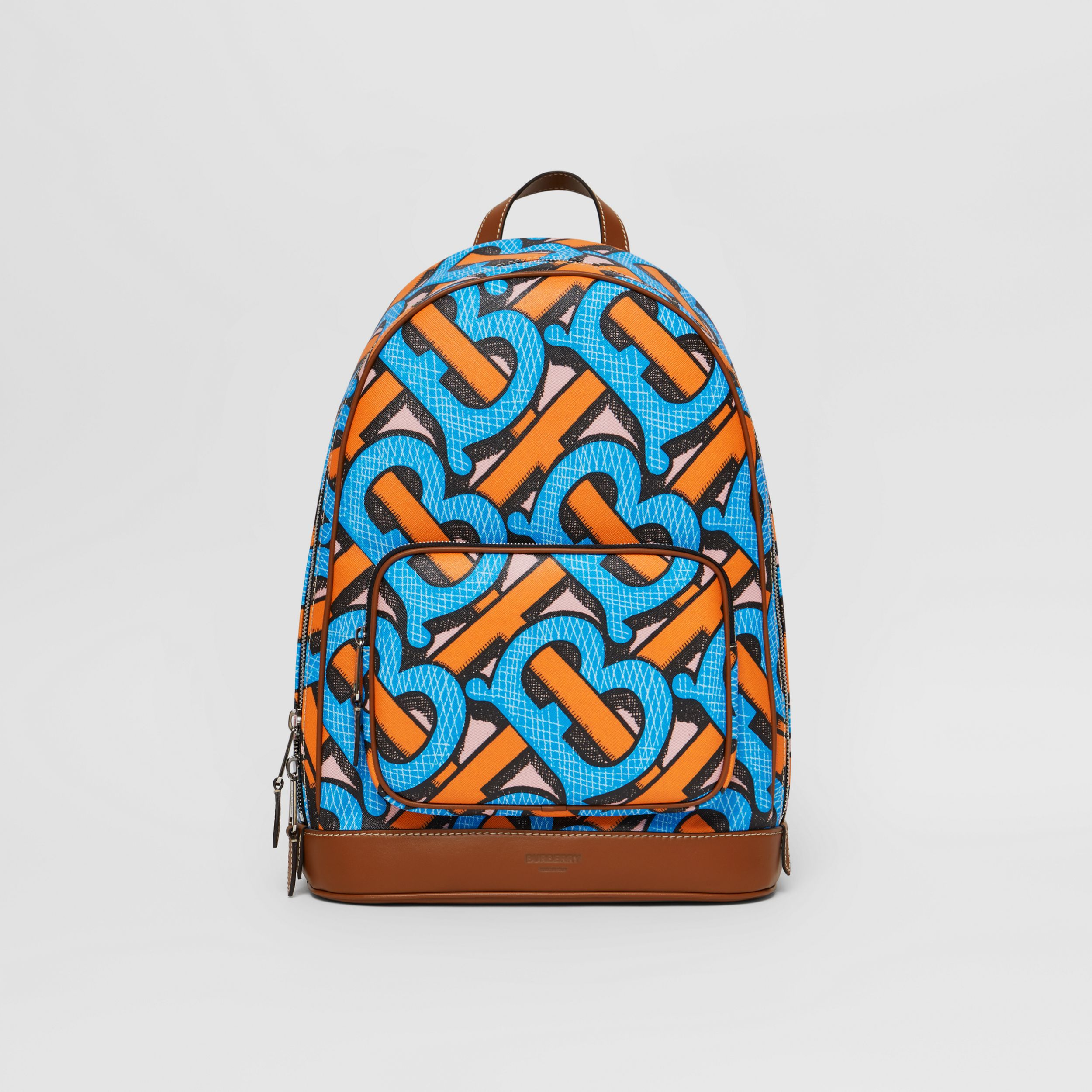 Monogram Print E-canvas Backpack in Bright Cobalt | Burberry - 1