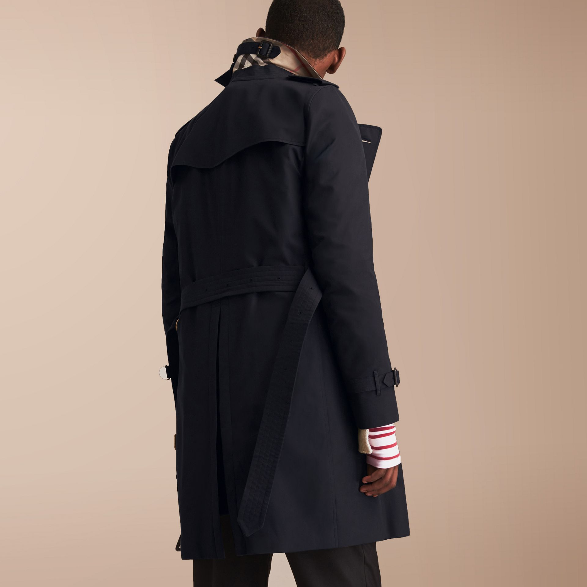 The Kensington – Long Heritage Trench Coat in Navy - gallery image 3