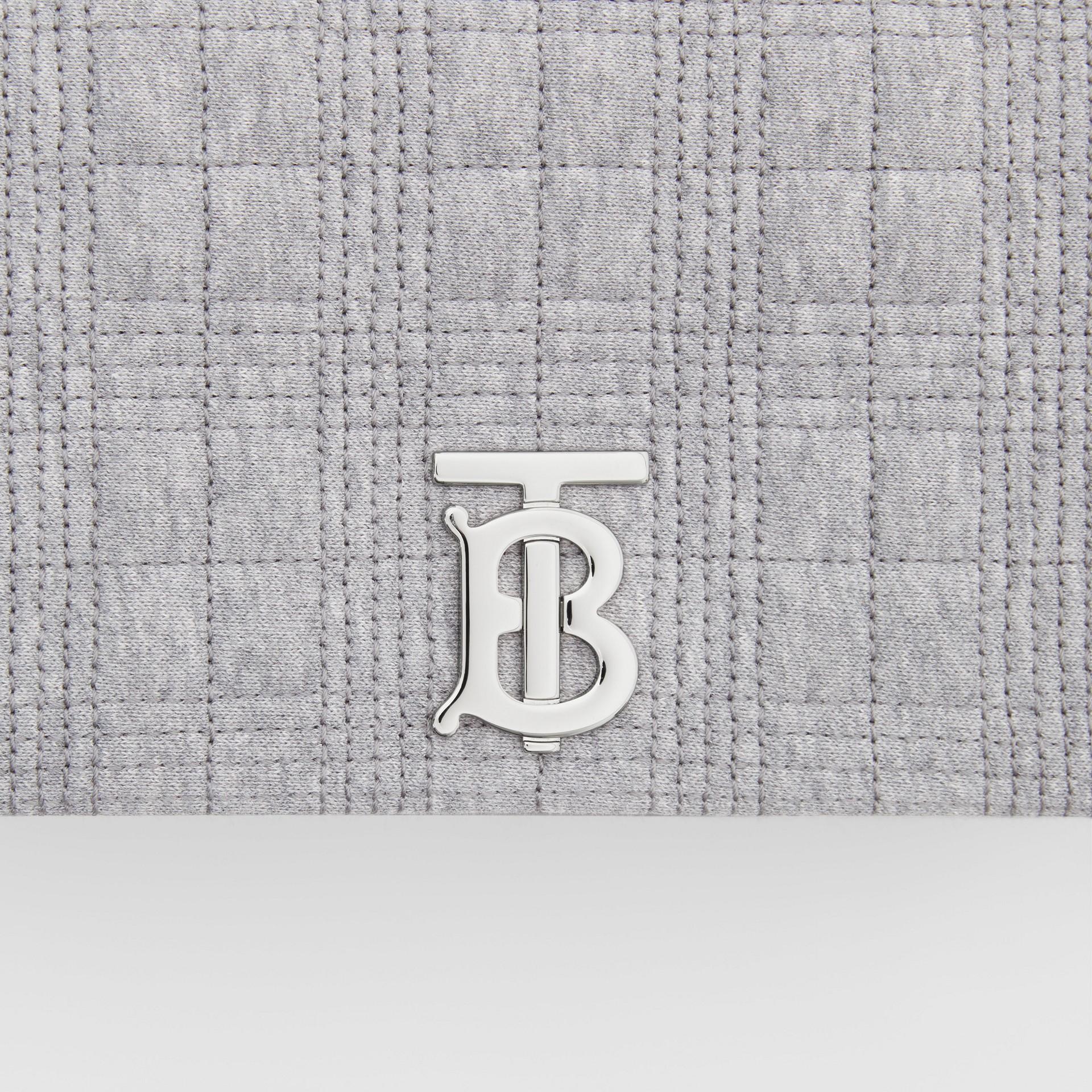 Borsa Lola piccola in jersey trapuntato (Grigio Talpa Mélange) | Burberry - immagine della galleria 1