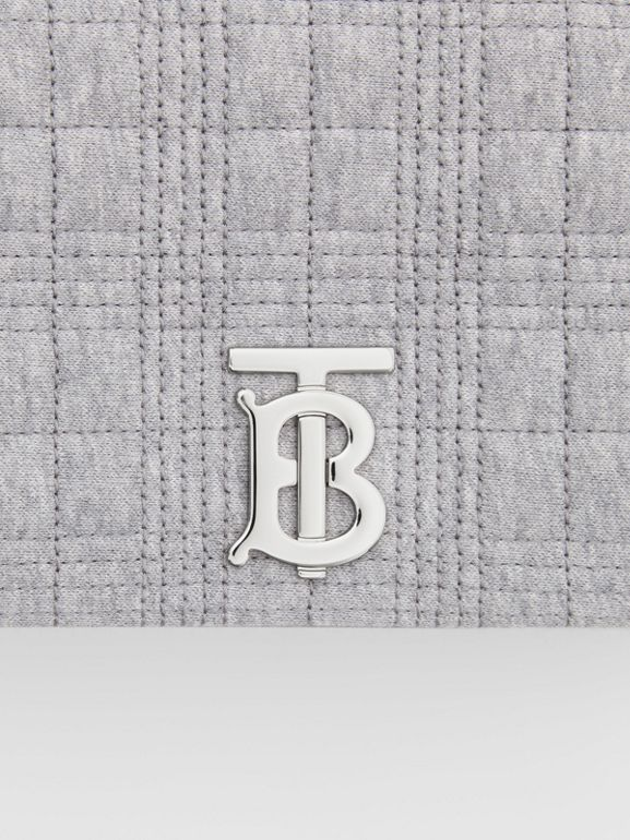 Small Quilted Jersey Lola Bag in Grey Taupe Melange | Burberry United States - cell image 1