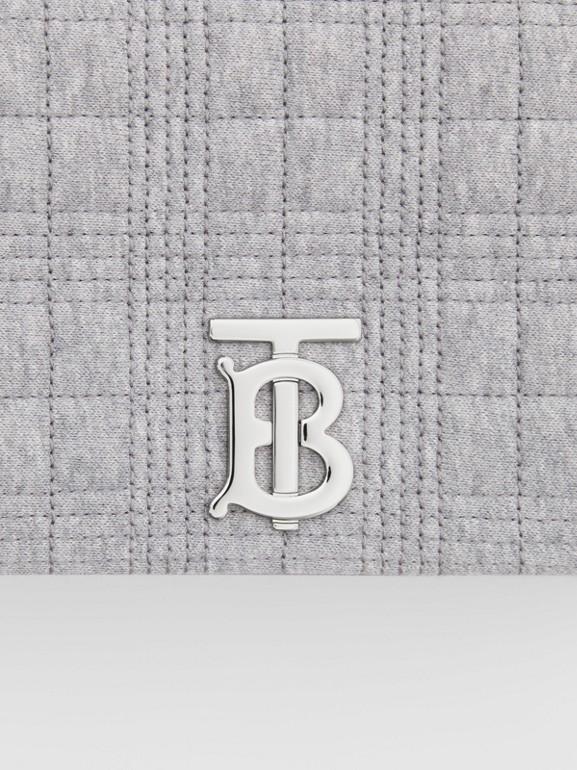 Borsa Lola piccola in jersey trapuntato (Grigio Talpa Mélange) | Burberry - cell image 1