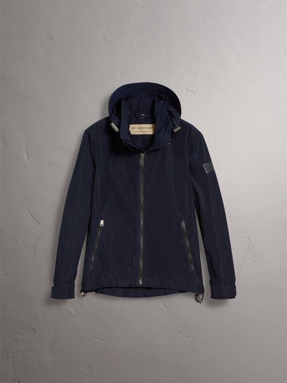Packaway Hood Showerproof Jacket in Navy