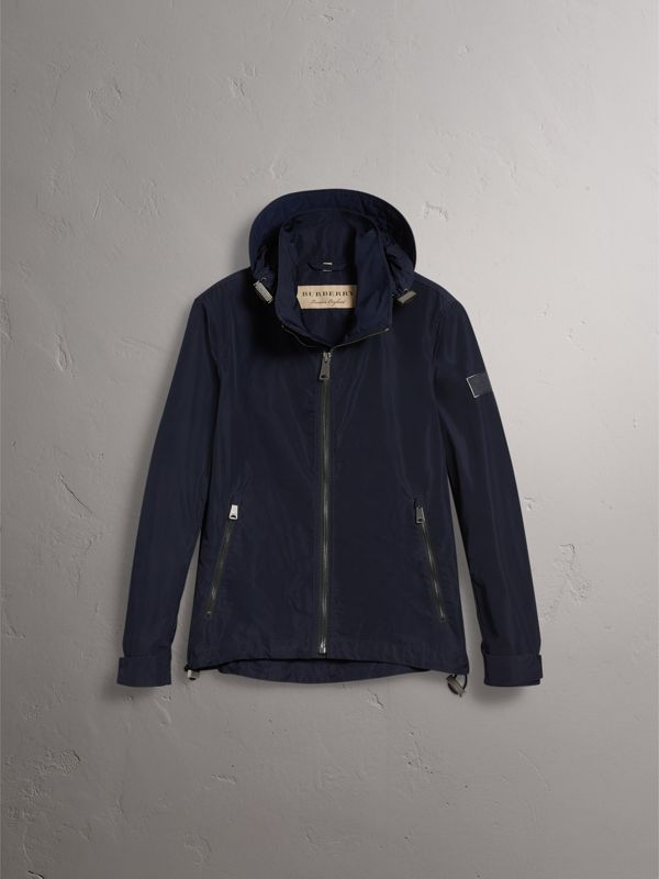 Packaway Hood Showerproof Jacket in Navy - Men | Burberry Australia - cell image 3