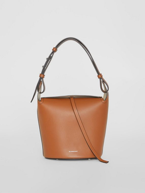 The Small Leather Bucket Bag in Tan
