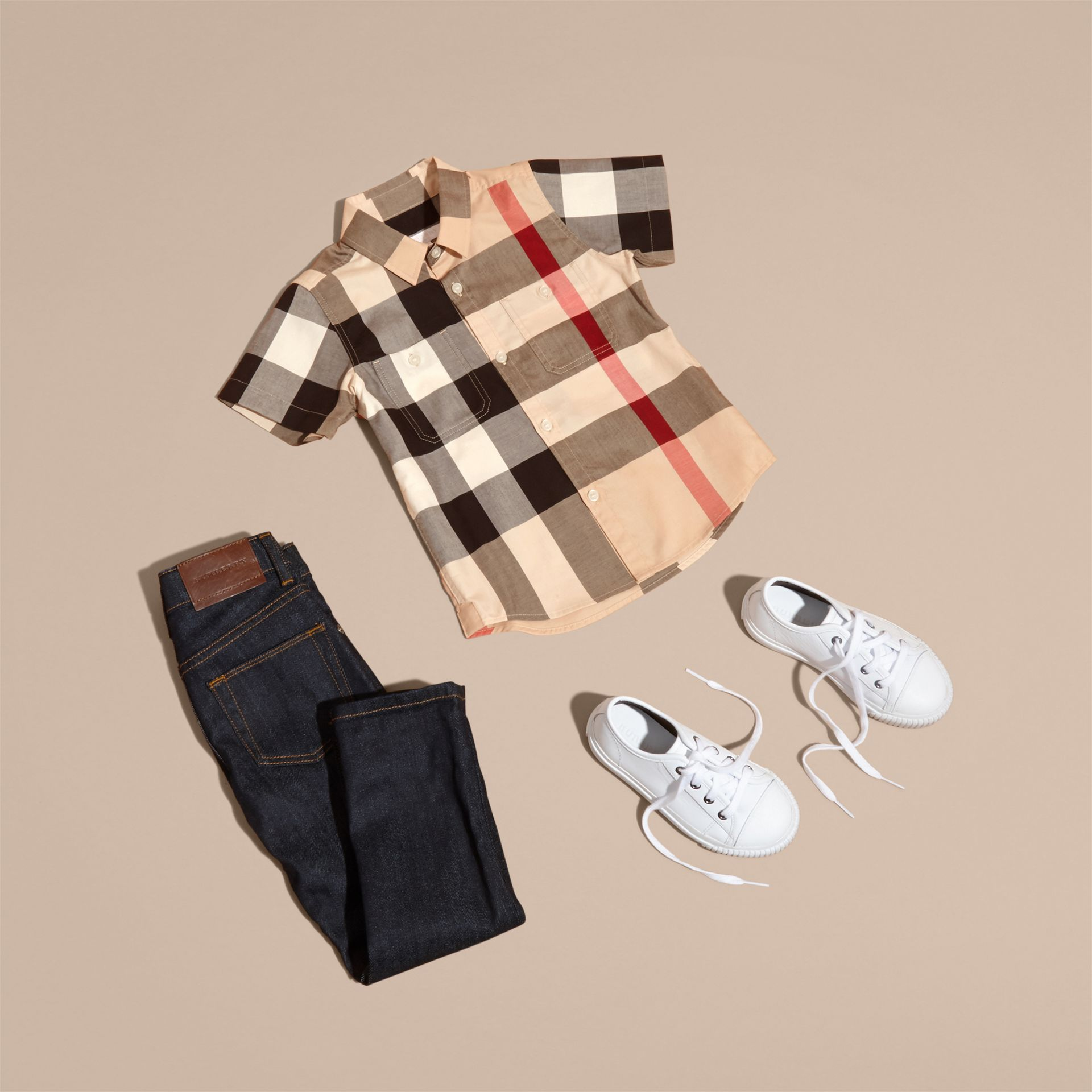 Short-sleeve Check Cotton Shirt in New Classic - Boy | Burberry - gallery image 5